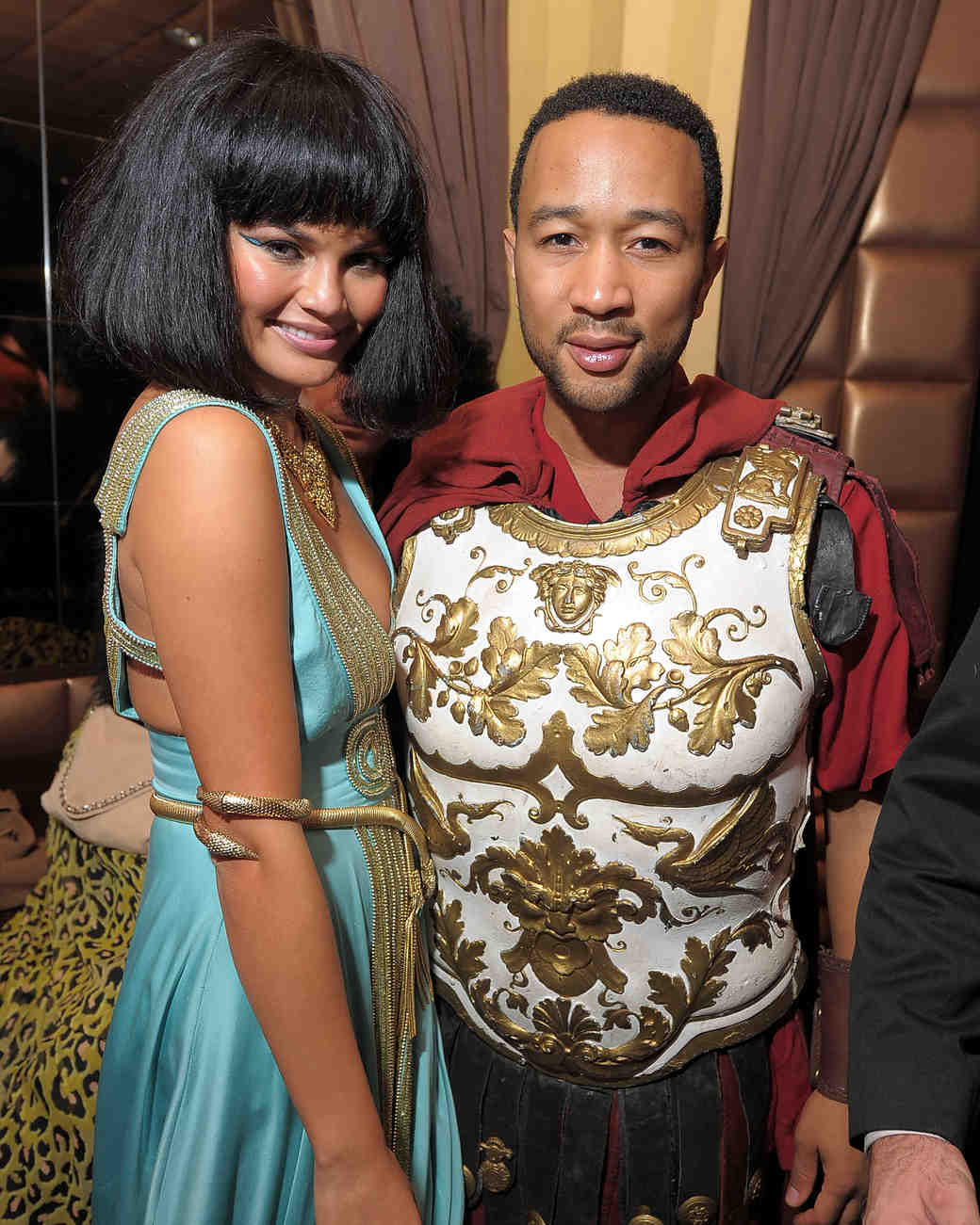 Chrissy Teigen and John Legend in Cleopatra and Gladiator Halloween Costumes  sc 1 st  Martha Stewart Weddings & The 10 Best Celebrity Halloween Couples Costumes | Martha Stewart ...