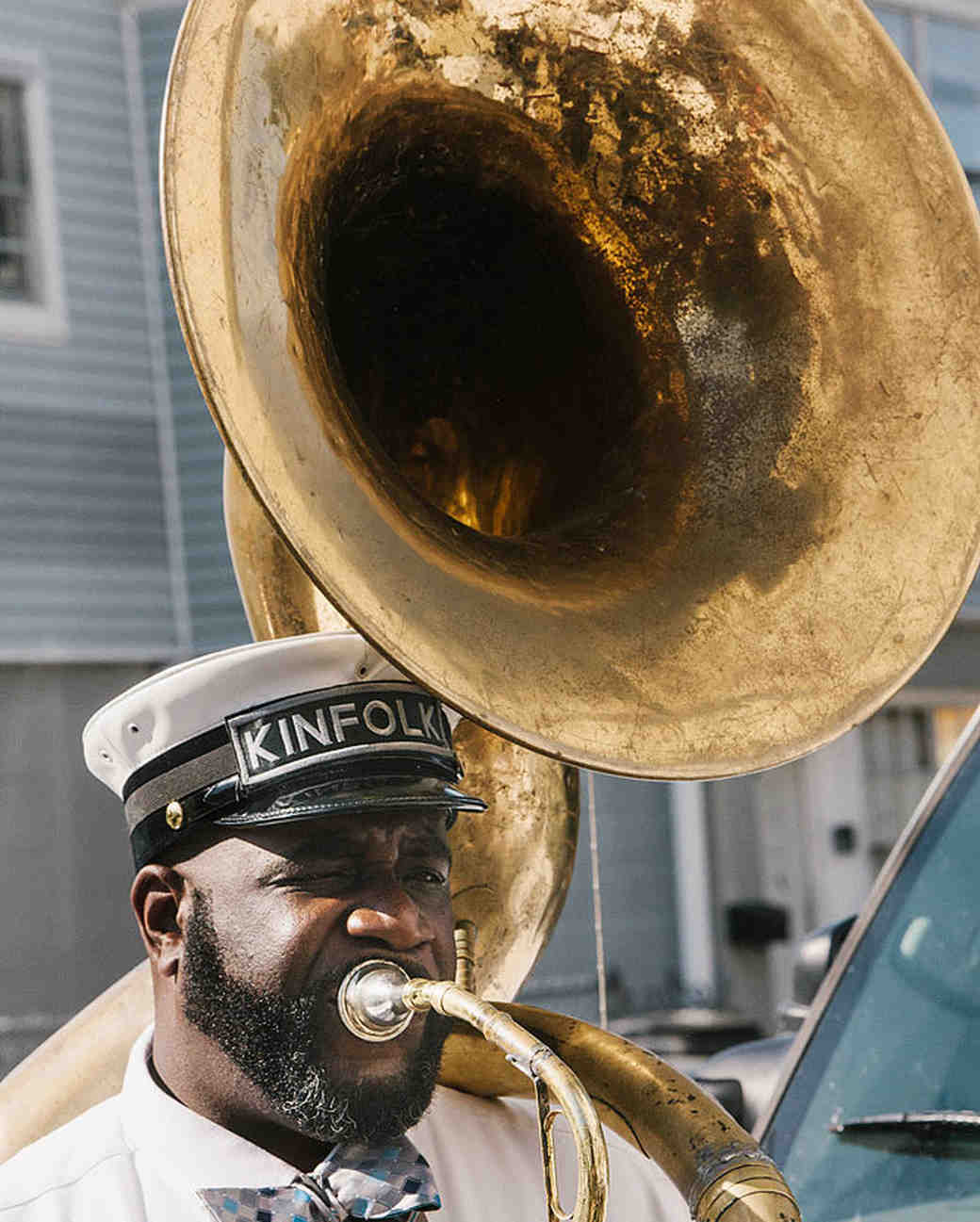 brass band tuba player