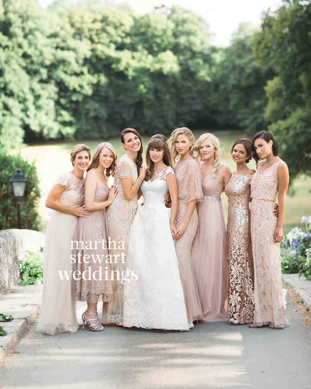 41 reasons to love the mismatched bridesmaids look martha mismatched neutral bridesmaid dresses ombrellifo Gallery