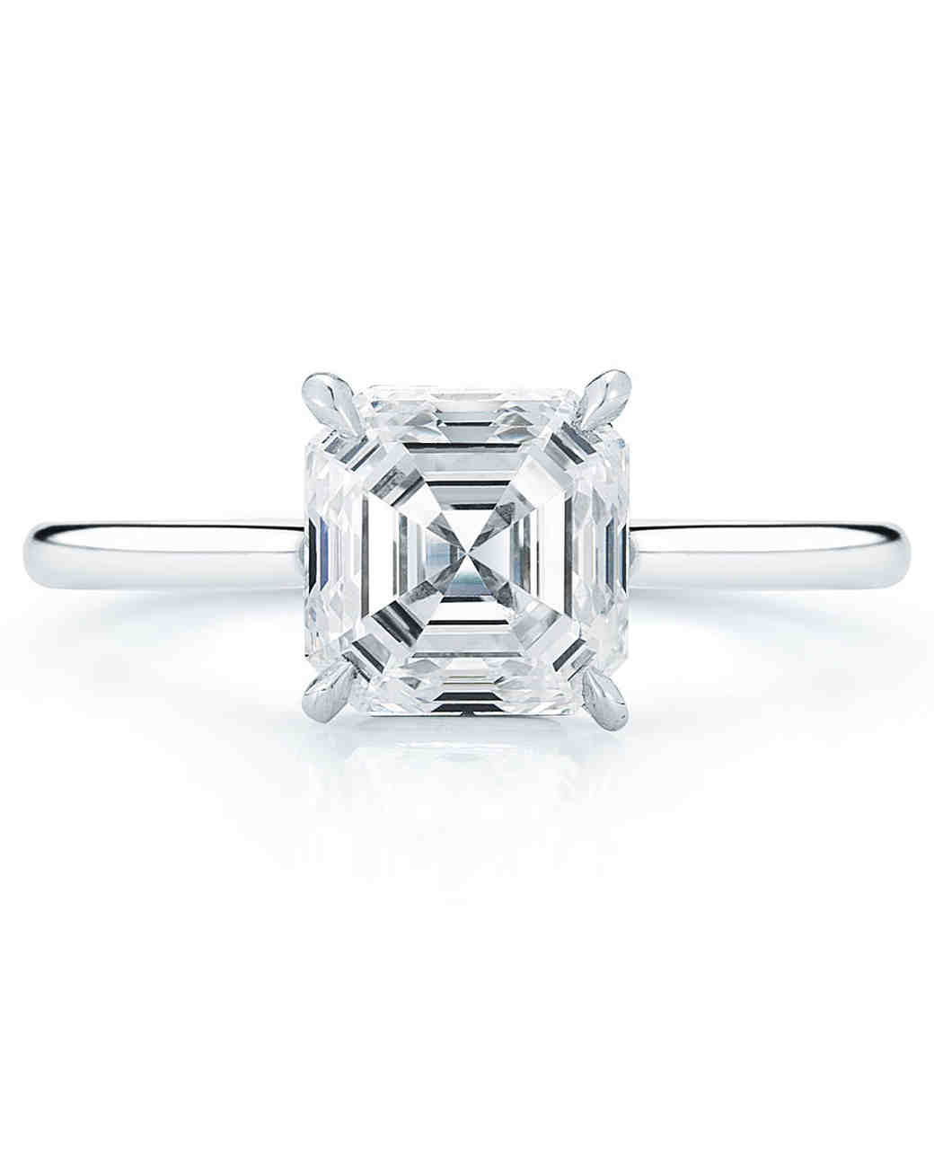 asscher rings diamond cut vintage shop platinum engagement ring products