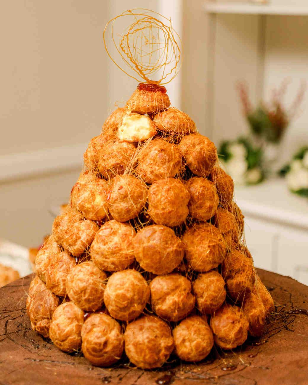 lauren christian christmas wedding croquembouche dessert