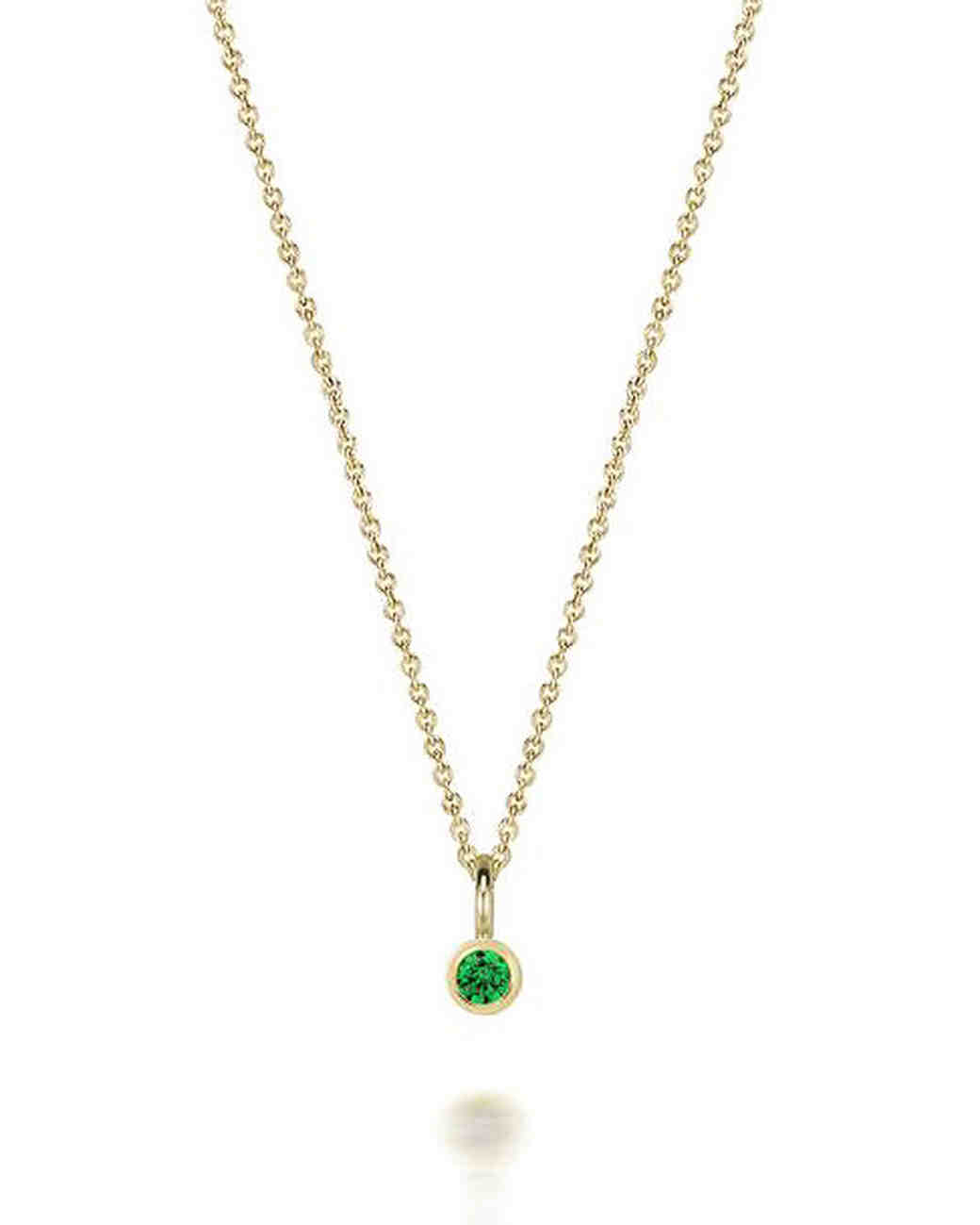 personalized bridesmaids jewelry gift green pendant necklace