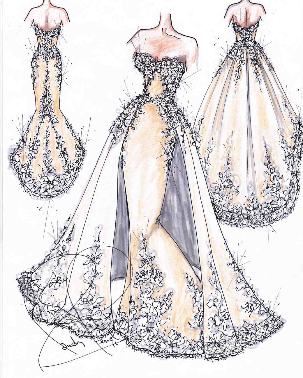 It is an image of Peaceful Drawing Of Dress Design