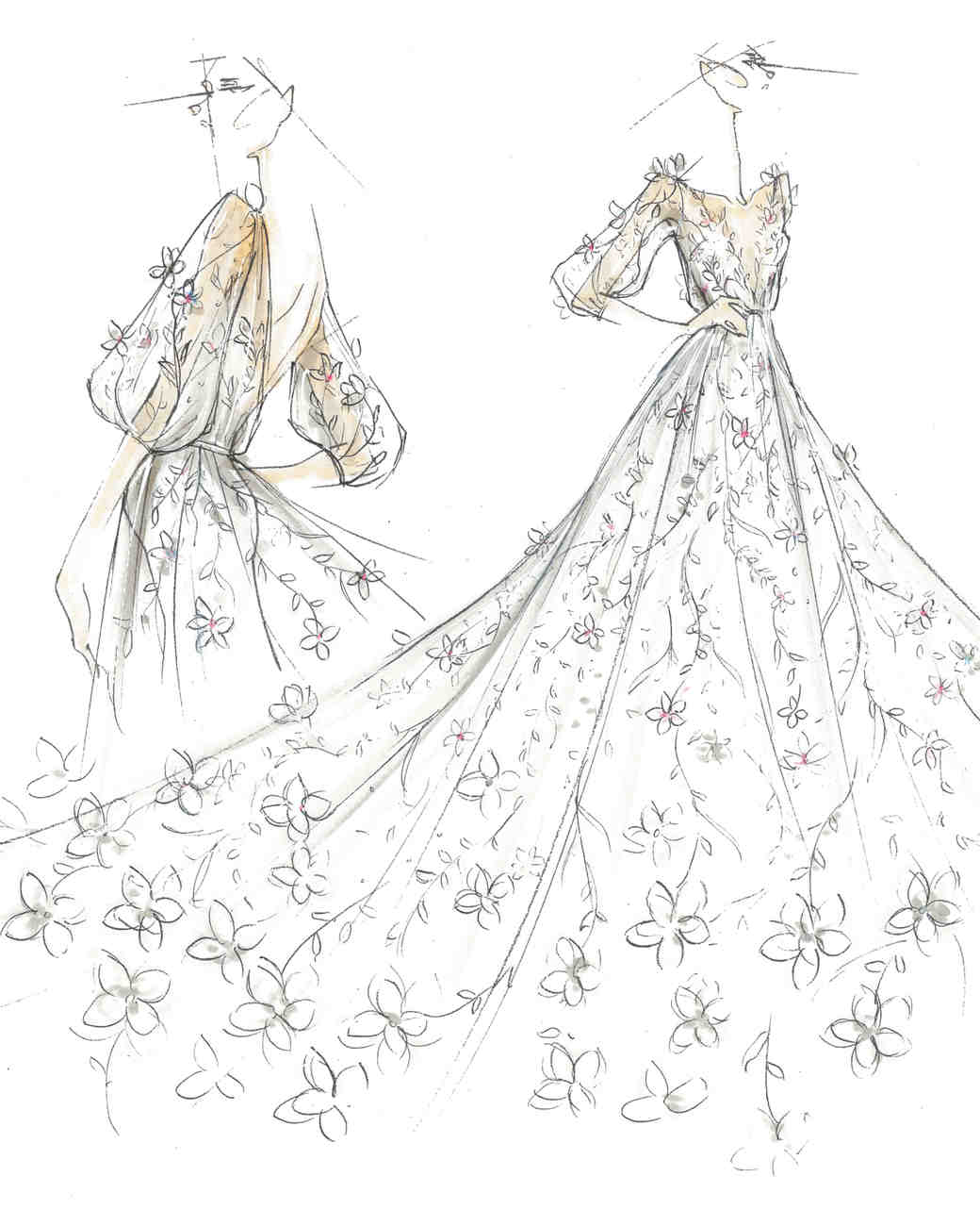 Spring 2018 BFW Sketches Marchesa Notte Bridal