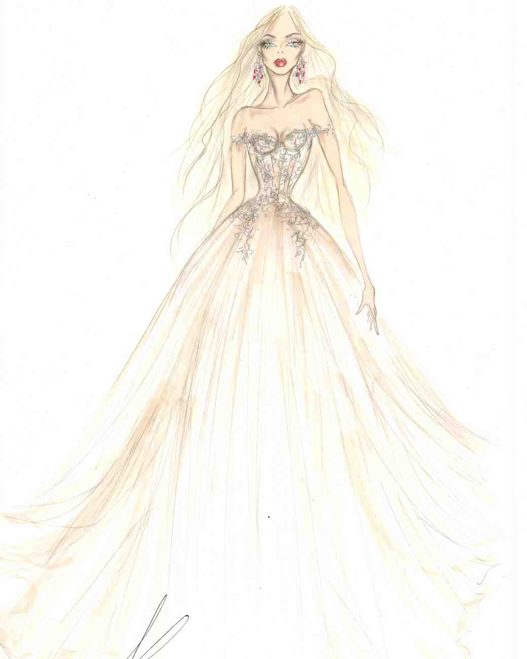 wedding dress sketch