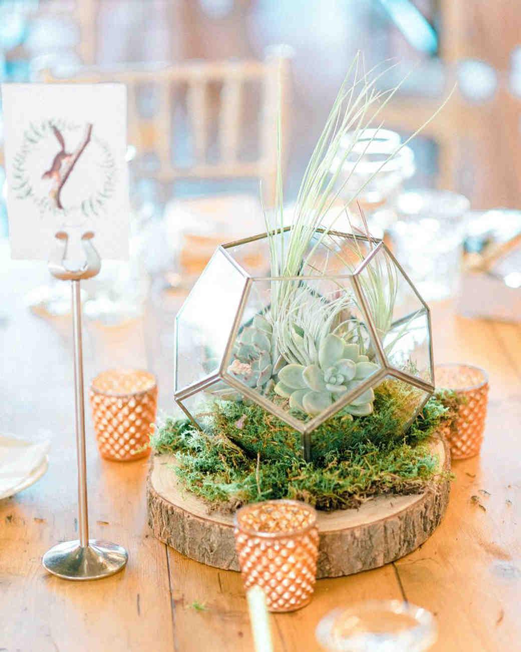 terrarium wedding ideas rustic centerpiece