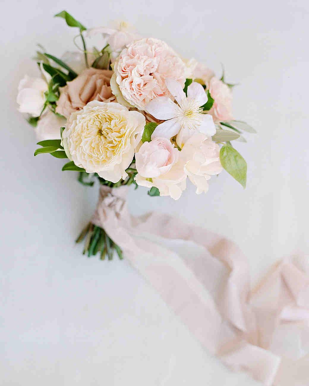 High Quality Aislinn Eric Wedding Malibu Garden Roses Bouquet