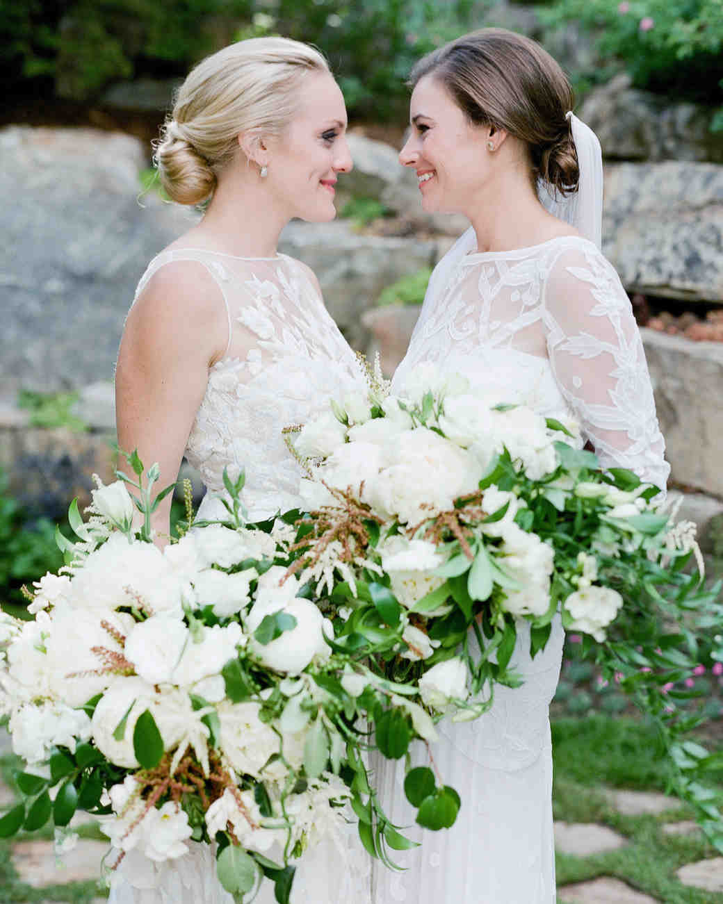 two white bouquets