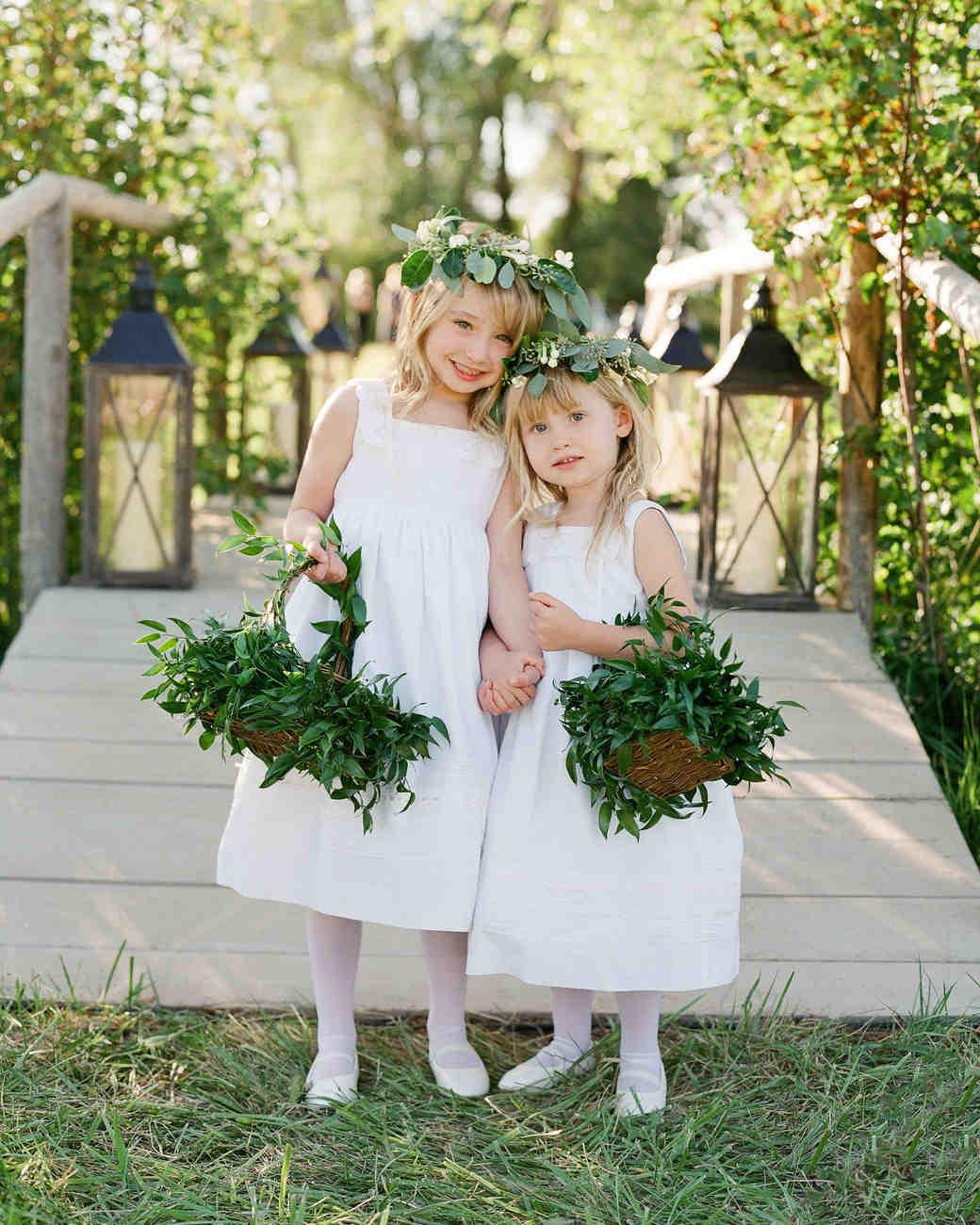 bessie john wedding flower girls