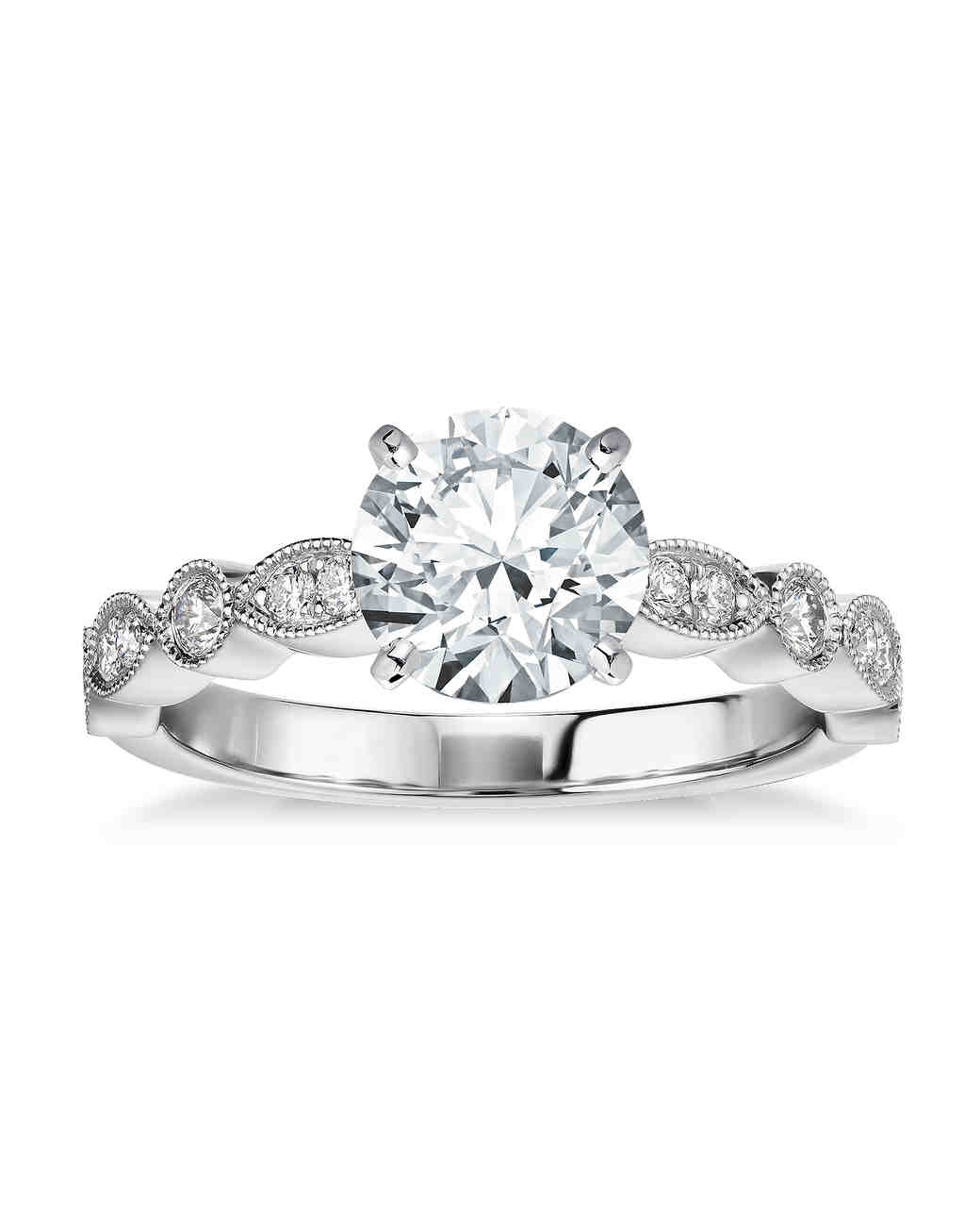 Blue Nile White Gold Engagement Ring
