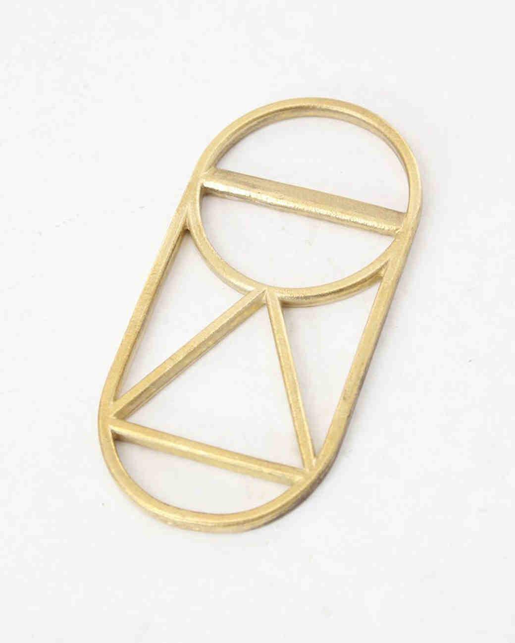 geometric brass bottle opener