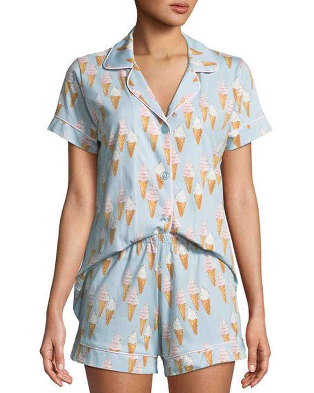 bridesmaid robe alternatives bedhead ice cream pj set