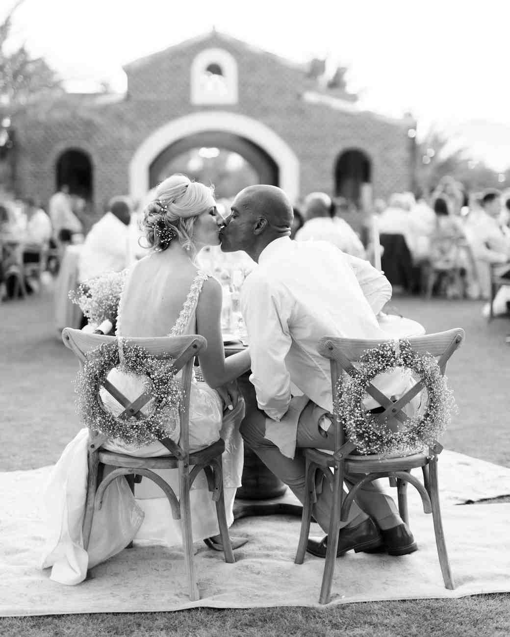 brittany craig wedding sweetheart kiss