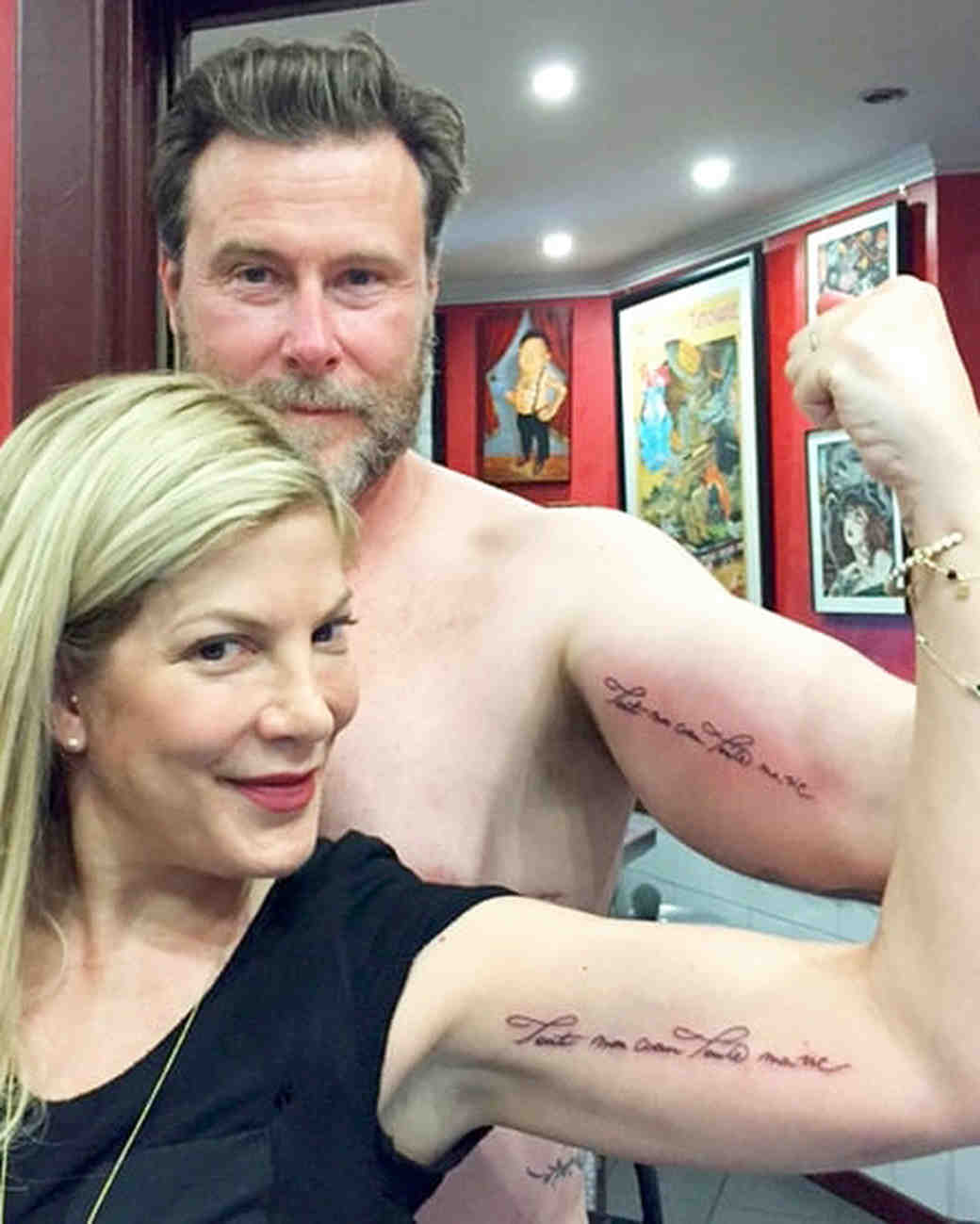 Tori Spelling and Dean McDermott's Matching Tattoos
