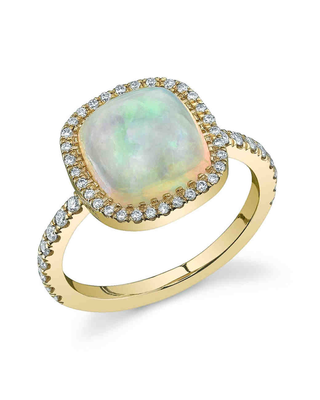 71c5341defc0b9 32 Unique Opal Engagement Rings | Martha Stewart Weddings