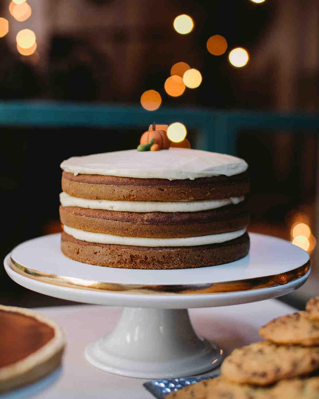 Naked Pumpkin Wedding Cake