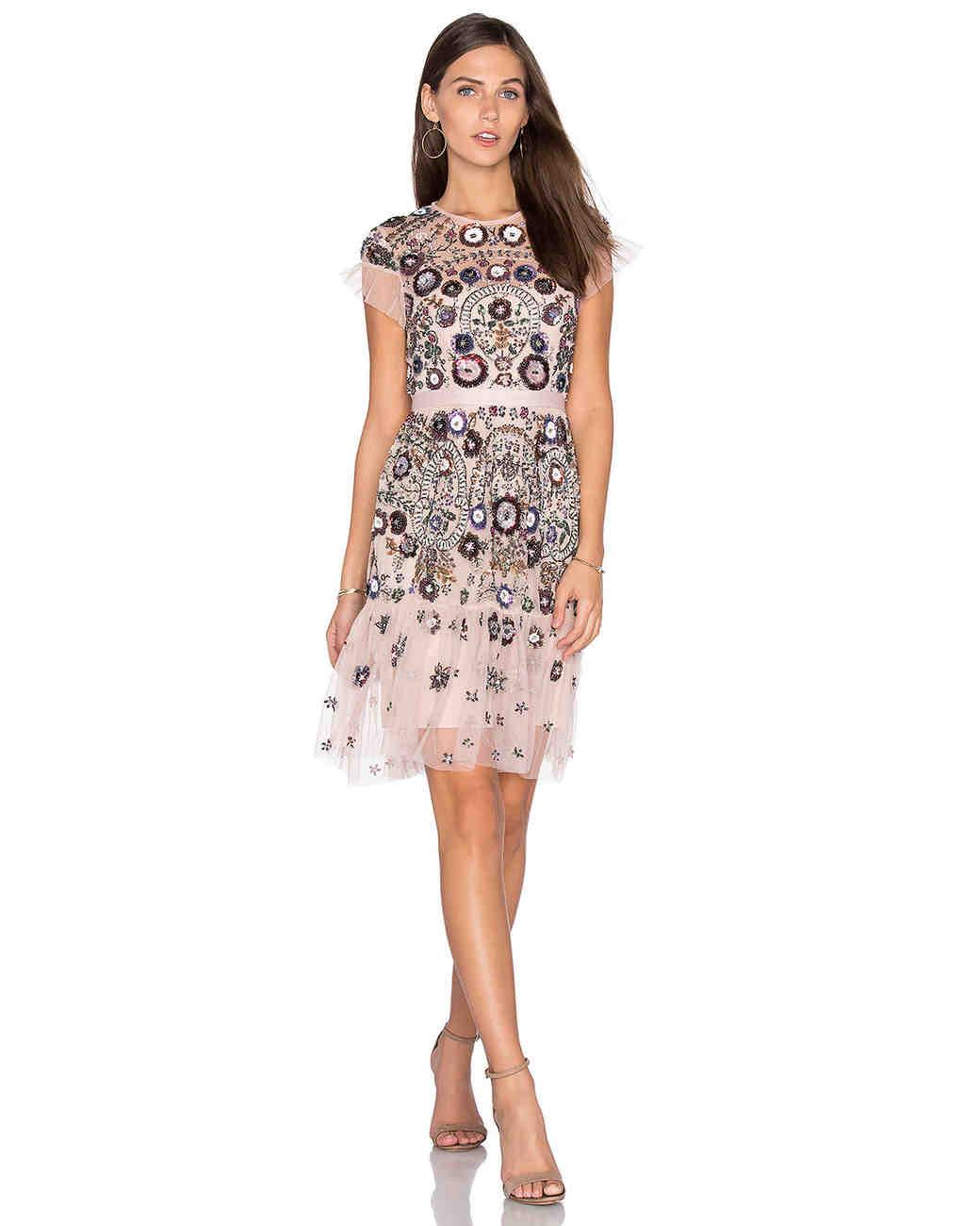 engagement party dress needle thread embellished lace