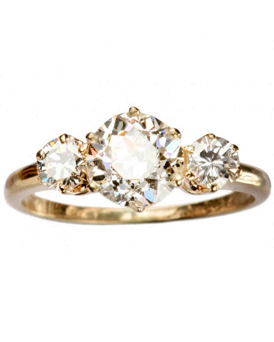 Erie Basin 1957 antique engagement ring