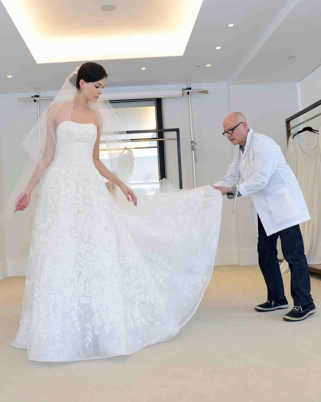 A Diary Of The Making Wedding Dress Behind Seams With Carolina Herrera Martha Weddings