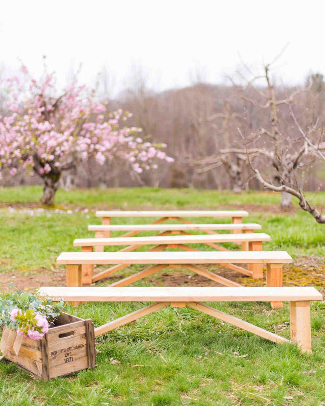 wedding ceremony benches
