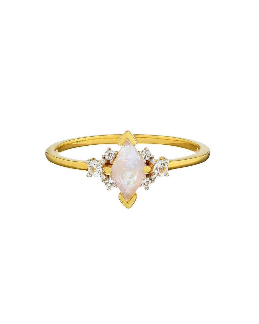 Moonstone Engagement Ring, Carrie Elizabeth Jewellery
