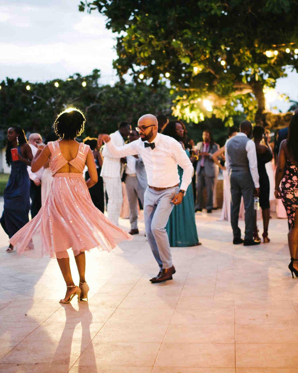 porsha terry wedding jamaica guests reception dancing