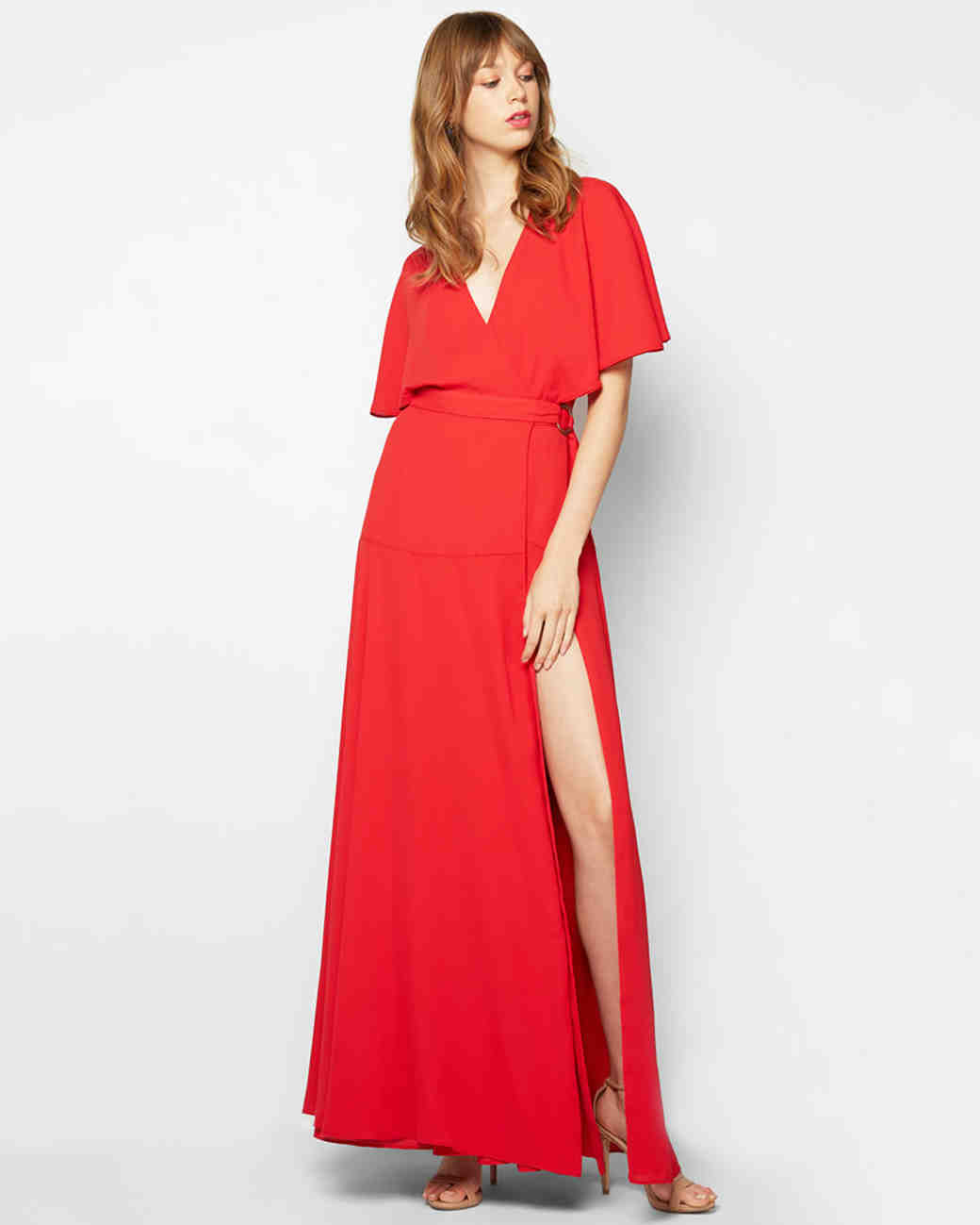 Red bridesmaid dresses martha stewart weddings ombrellifo Image collections