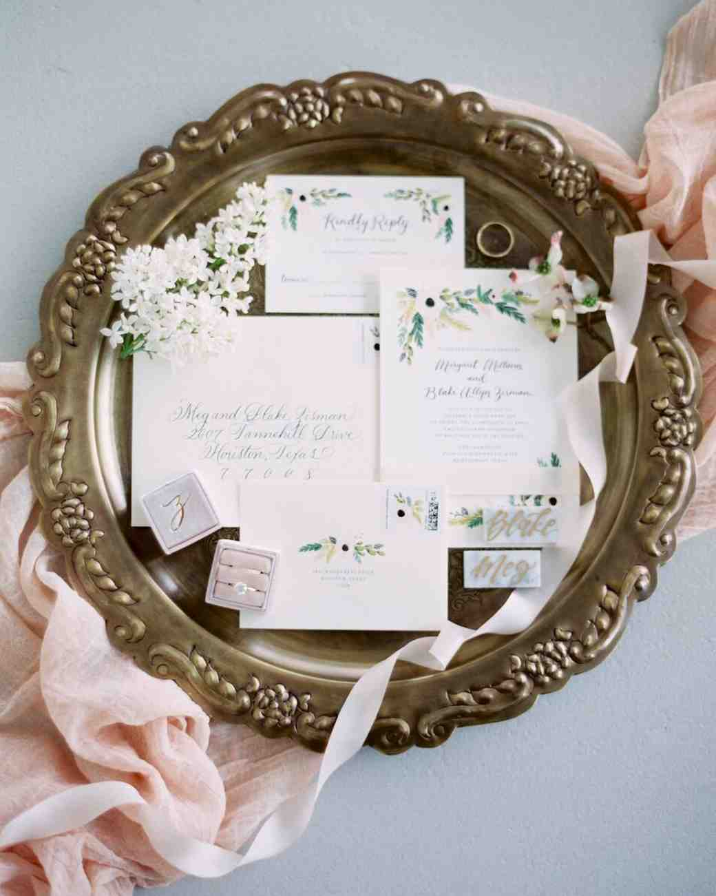 Floral Wedding Invitation: Unique Wedding Invitations Spring At Reisefeber.org