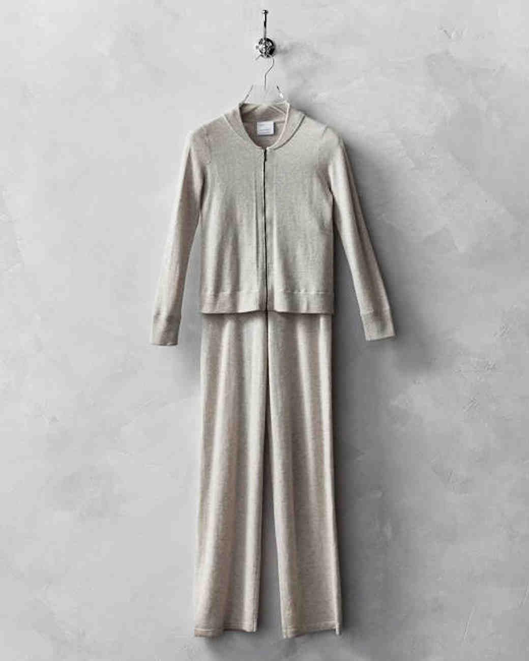 wool anniversary gift cashmere lounge suit