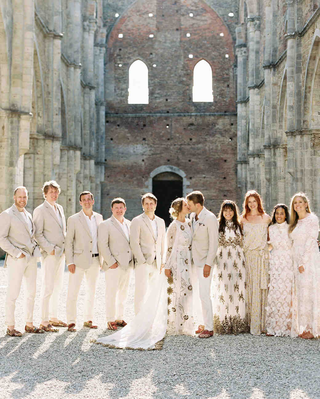alexis zach wedding italy bridal party