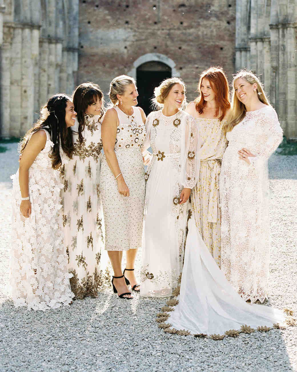 3a420c029c 26 Chic Bridal Parties Wearing All-White Dresses | Martha Stewart ...