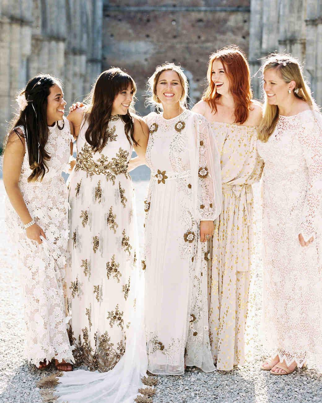 alexis zach wedding italy bridesmaids close-up