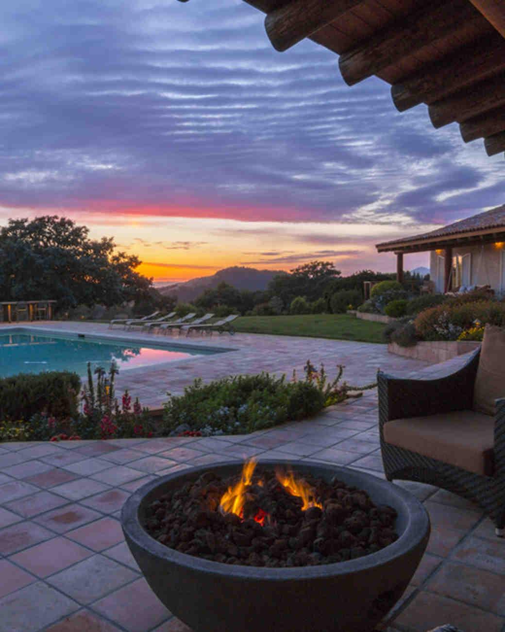 outdoor patio santa rose california airbnb