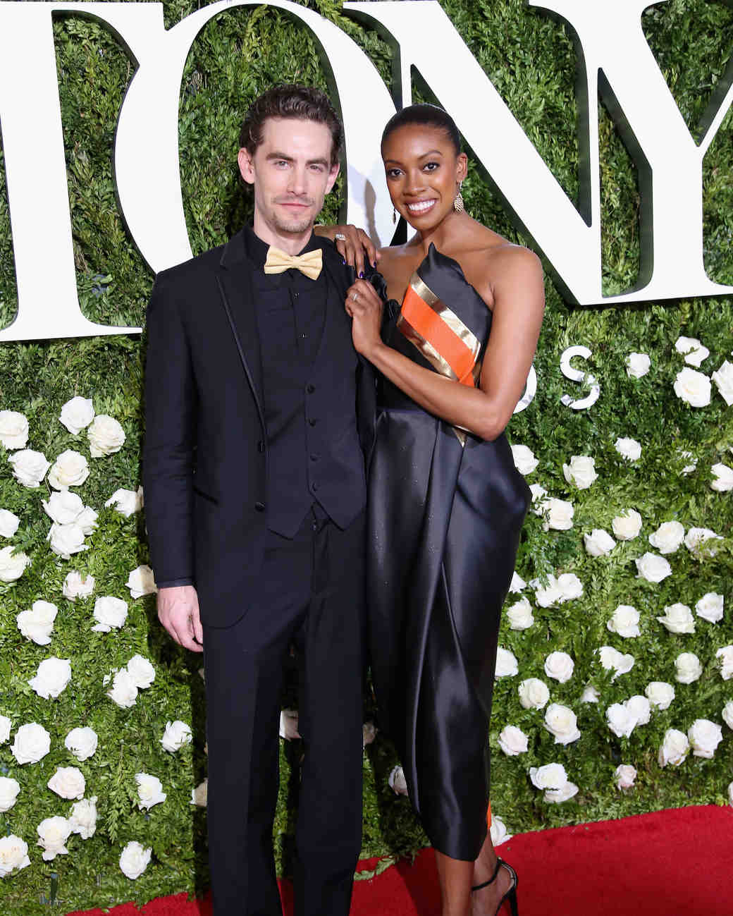 Condola Rashad and Sebastian Vallentin Stenhoj at 2017 Tony Awards