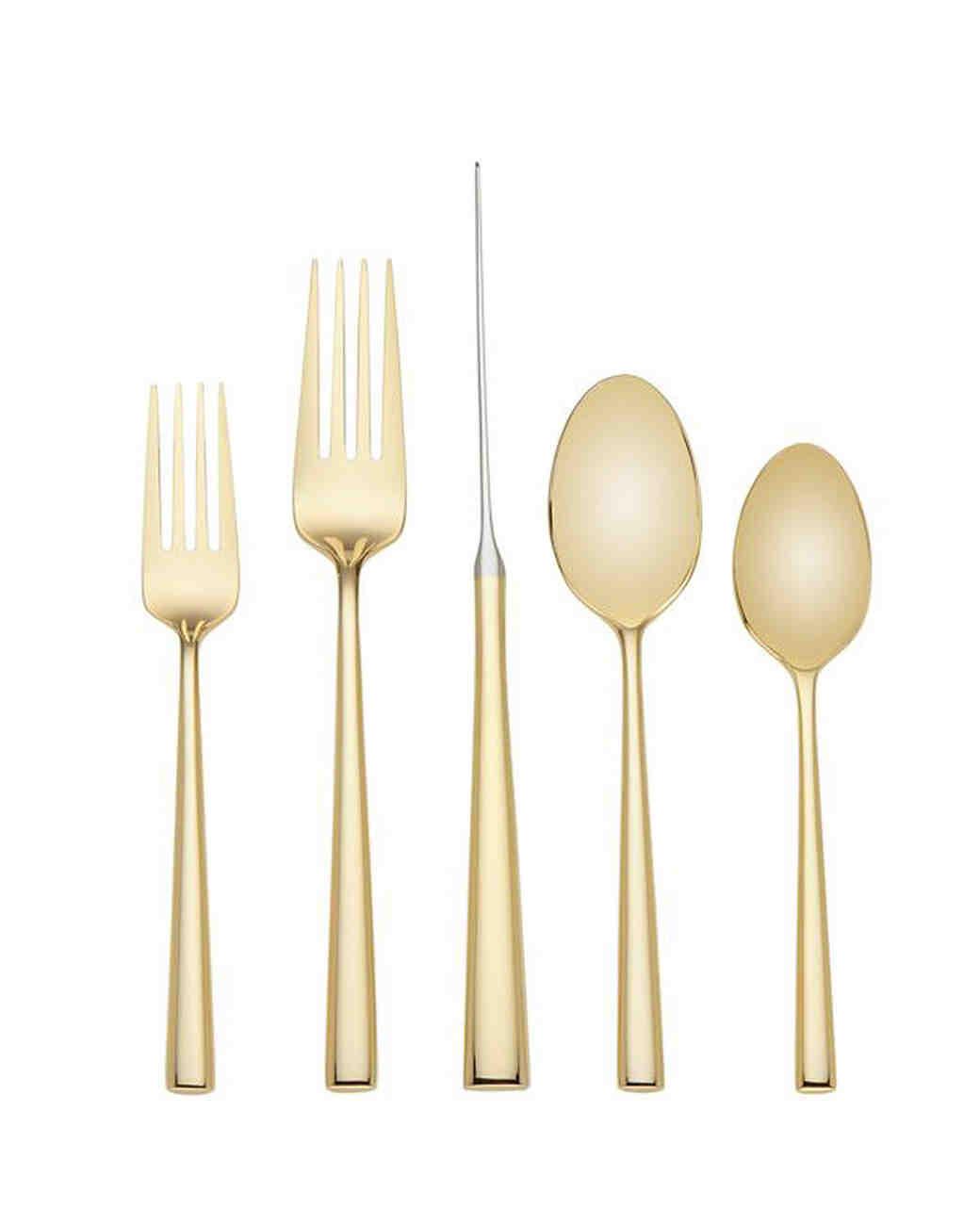 gold flatware