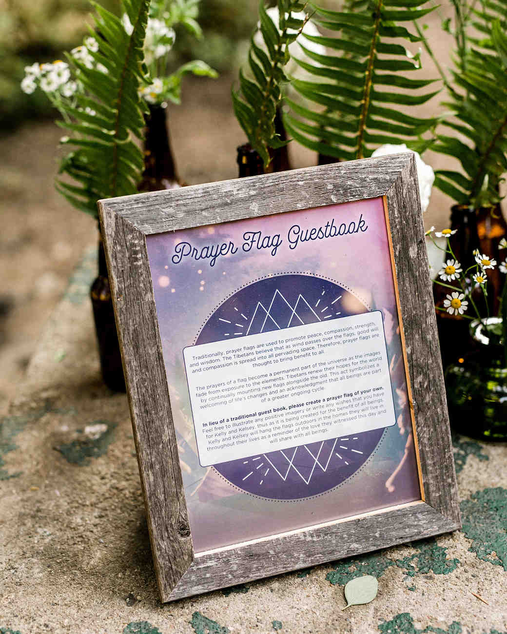 kelly kelsey wedding prayer flag and guestbook