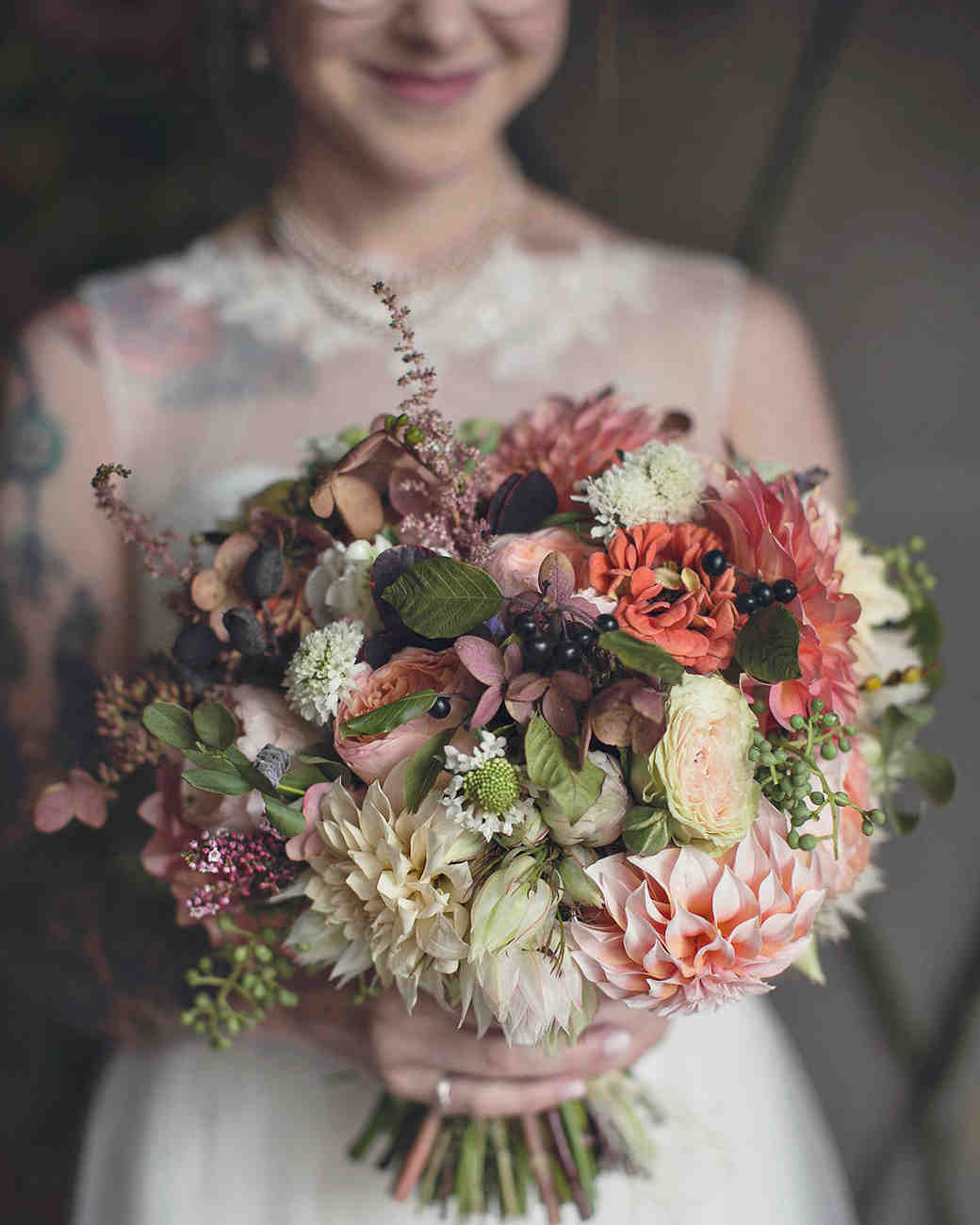Big Muted Wedding Bouquet