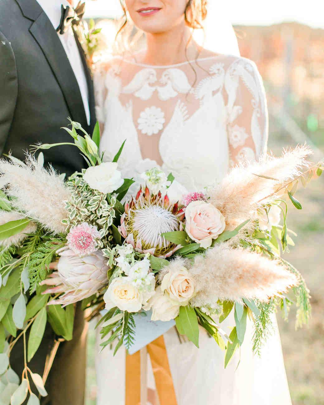 pampas grass ideas bridal bouquet