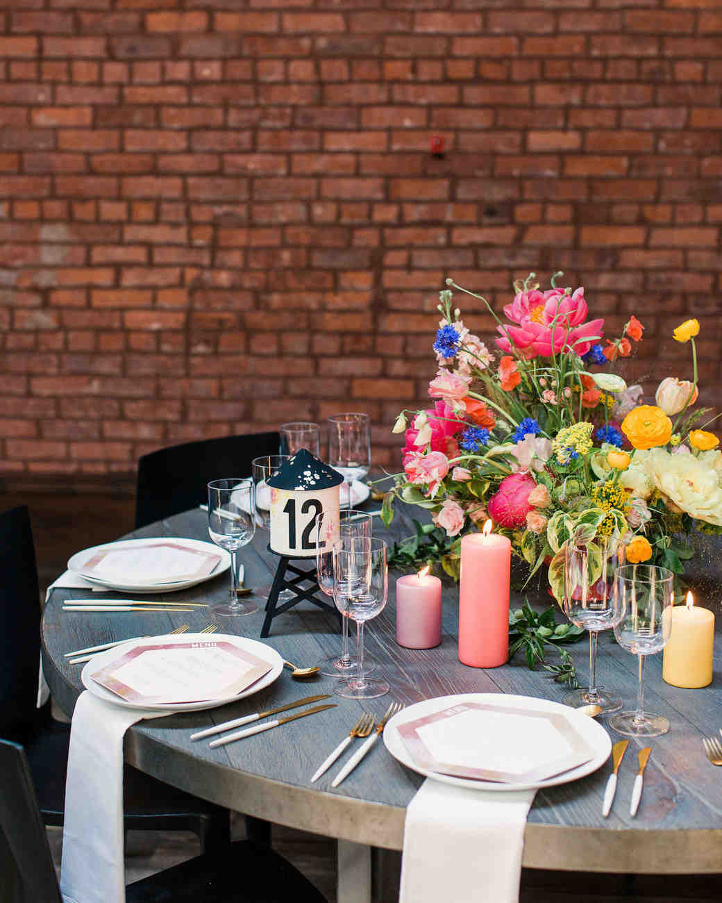 risa ross wedding brooklyn new york table setting