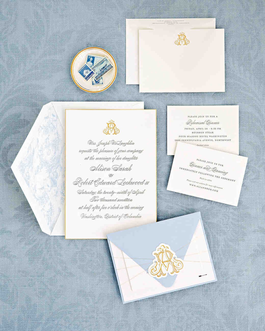 washington dc wedding stationery suite