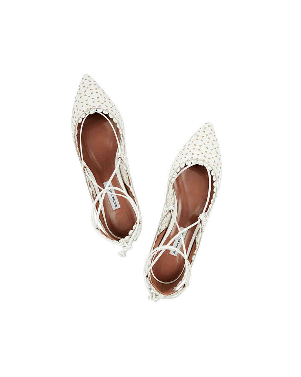 shoes that won't sink Tabitha Simmons perforated flats