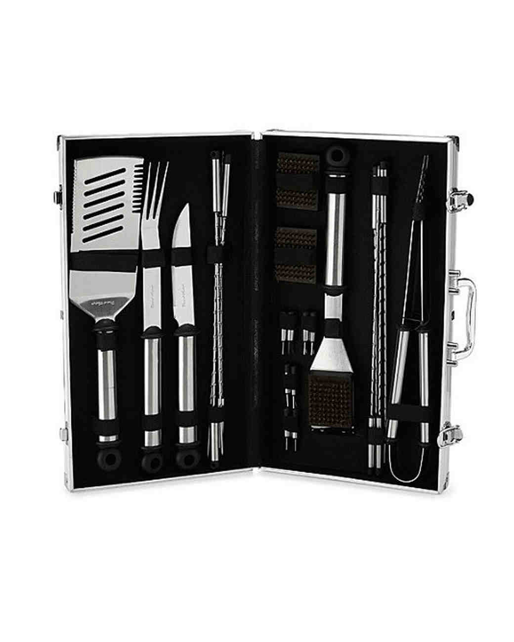 aluminum anniversary gift bbq tools briefcase