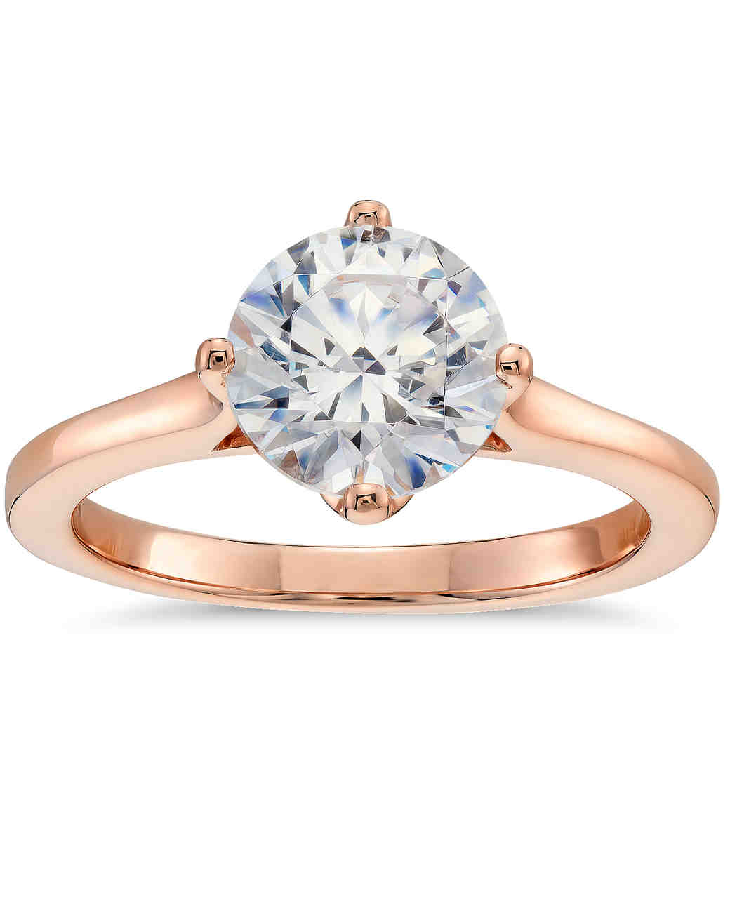 41 Rose Gold Engagement Rings We Love | Martha Stewart Weddings