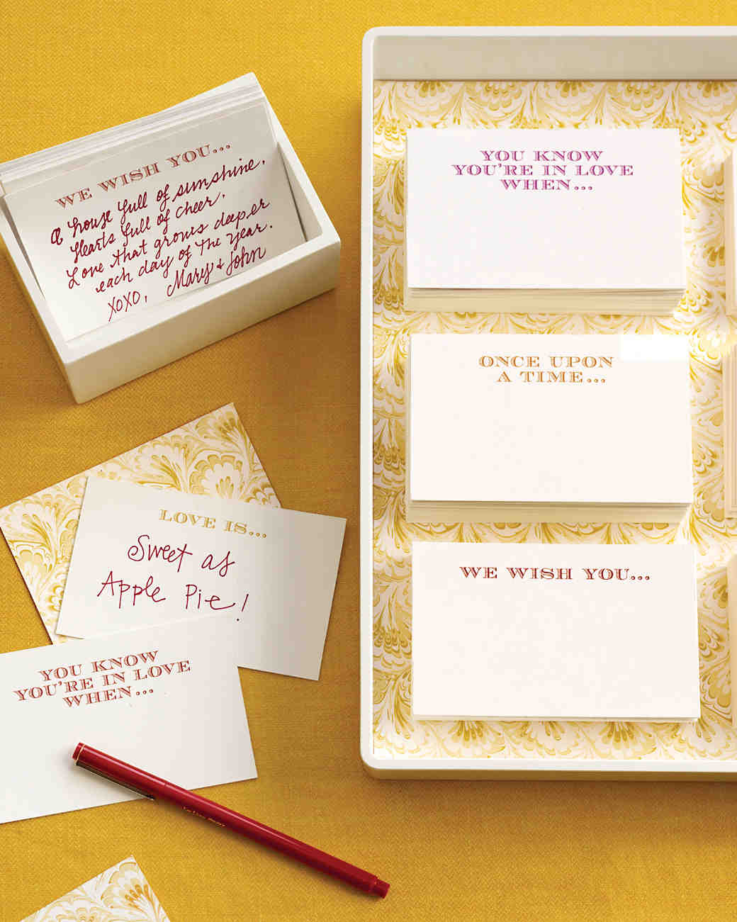 bridal shower game cards