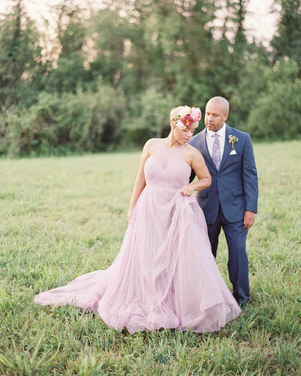 Colorful Dresses from Real Weddings | Martha Stewart Weddings