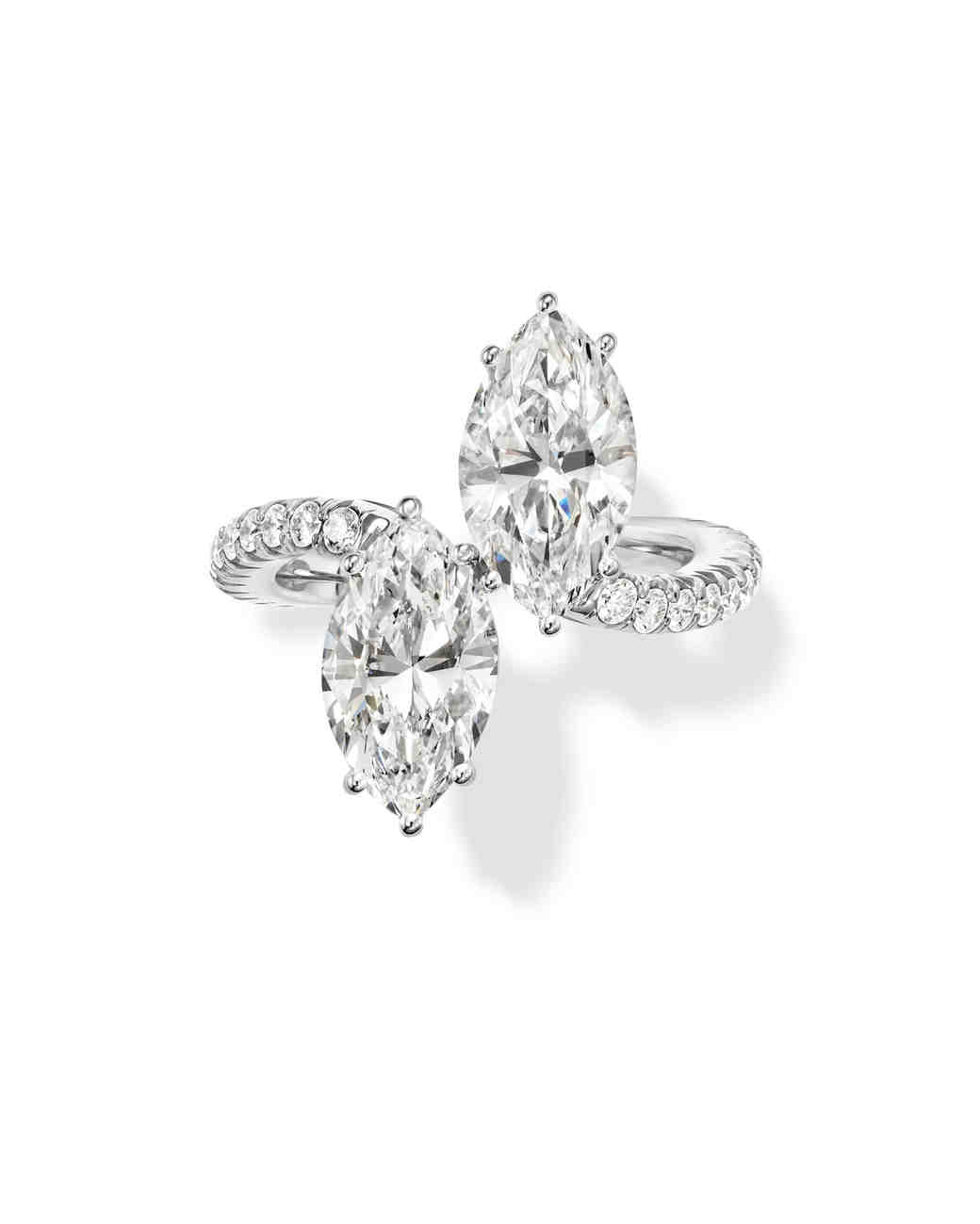 Harry Winston Marquise-Cut Twin Diamond Platinum Engagement Ring