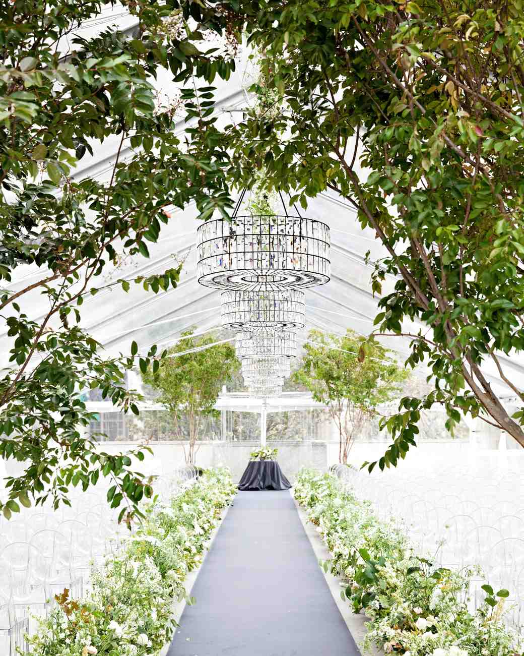 White and Green Reception Tent
