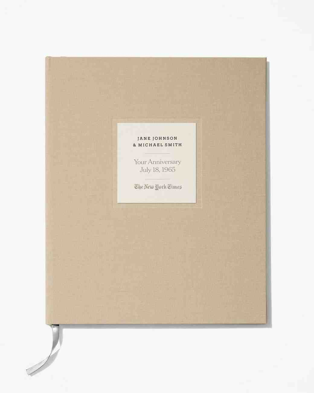 6344df6c6e New York Times Linen-Covered Anniversary Book