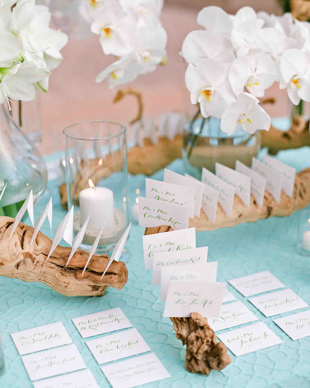 natalie jamey rehearsal dinner escort cards