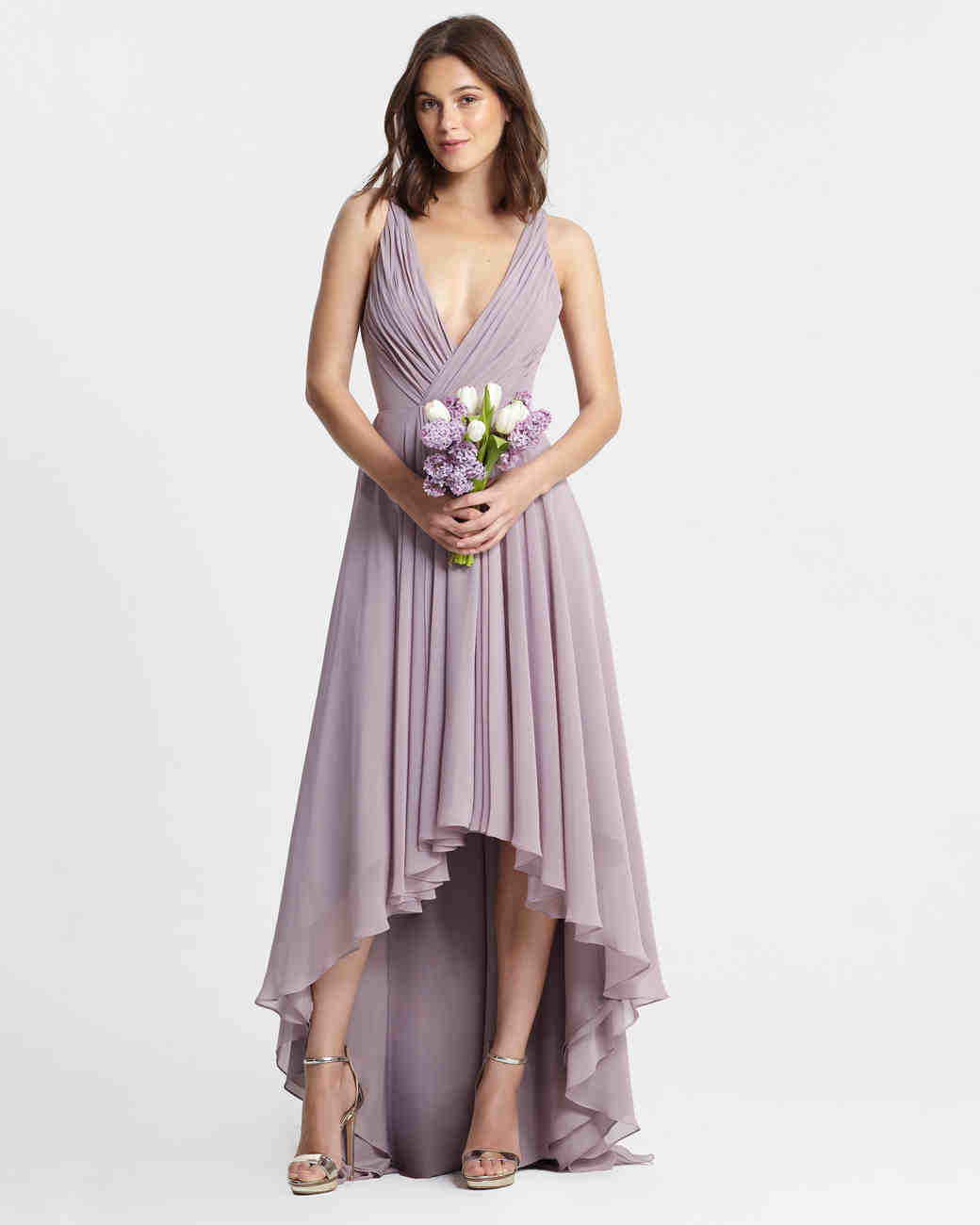 Purple bridesmaid dresses martha stewart weddings ombrellifo Image collections